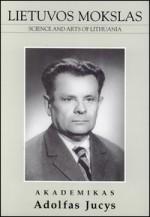 Akademikas Adolfas Jucys. – Vilnius, 2004. Knygos viršelis