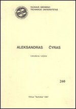 Aleksandras Čyras: literatūros rodyklė. – Vilnius, 1997. Knygos viršelis