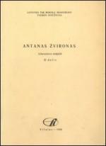 Antanas Žvironas: literatūros rodyklė. – Vilnius, 1988. – D. 2. Knygos viršelis