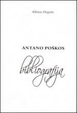 Degutis, Albinas. Antano Poškos bibliografija, 1920-2006. - Vilnius, 2006. Knygos viršelis