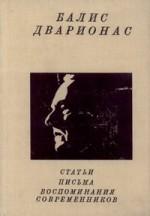 Балис Дварионас: статьи, письма, воспоминания современников. – Ленинград, 1989. Knygos viršelis