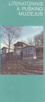 Literatūrinis A. Puškino muziejus. – Vilnius, 1988. Lankstinio viršelis