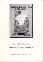 Rosiak, Stefan, Klimašauskienė, Teresa.  Wileńska Kolonia Kolejowa, 1908–1933. – Wilno, 1995. Knygos viršelis