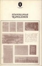 tanislovas Rapolionis. – Vilnius, 1986. Knygos viršelis