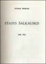 Eretas, Juozas. Stasys Šalkauskis, 1886–1941. – Brooklyn, 1960. Antraštinis puslapis