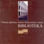 Vilniaus apskrities Adomo Mickevičiaus viešoji biblioteka. – Vilnius, 1998. Bukleto viršelis