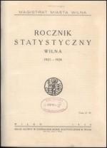 Rocznik statystyczny Wilna = Annuaire Statistique de Wilna. Vilnius, 1930. Antraštinis puslapis