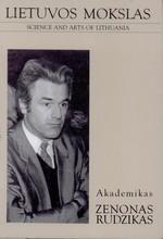 Akademikas Zenonas Rudzikas. – Vilnius, 2000. Knygos viršelis