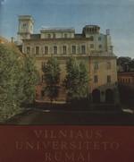 Vilniaus universiteto rūmai. – Vilnius, 1979. Knygos viršelis