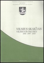 Vilnius skaičiais = Vilnius in figures 1998/2000. – Vilnius, 2002. Knygos viršelis