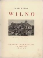Remer, Jerzy. Wilno. - Poznań, 1934. Antraštinis puslapis
