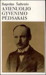 Šaltenis, Rapolas. A. Vienuolio gyvenimo pėdsakais. – Vilnius, 1982. Knygos viršelis