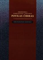 Profesorius, habilituotas daktaras Povilas Čibiras. Bibliografija. Knygos viršelis