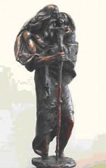 Šv. Kristoforo statulėlė  (skulpt. Erikas Daugulis)